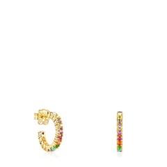 Tous Straight Color - Kolczyki z żółtego srebra Vermeil